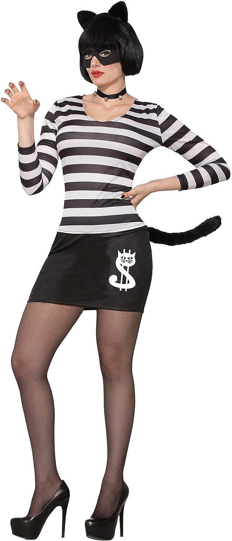 Forum Novelties 78162 disfraz de gato ladrón hembra, Color blanco ...