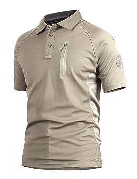 YFNT Camisa Militares De Polo De La Solapa De Los Hombres Camuflaje Camiseta De Manga Corta