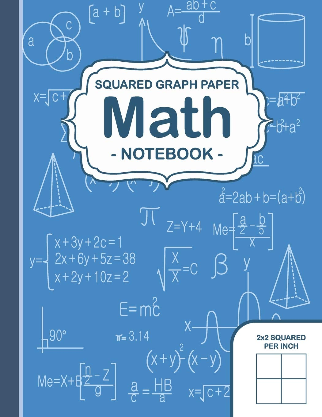 Graph Paper Math Squared Notebook: Squares Graph Paper Math Extra ...