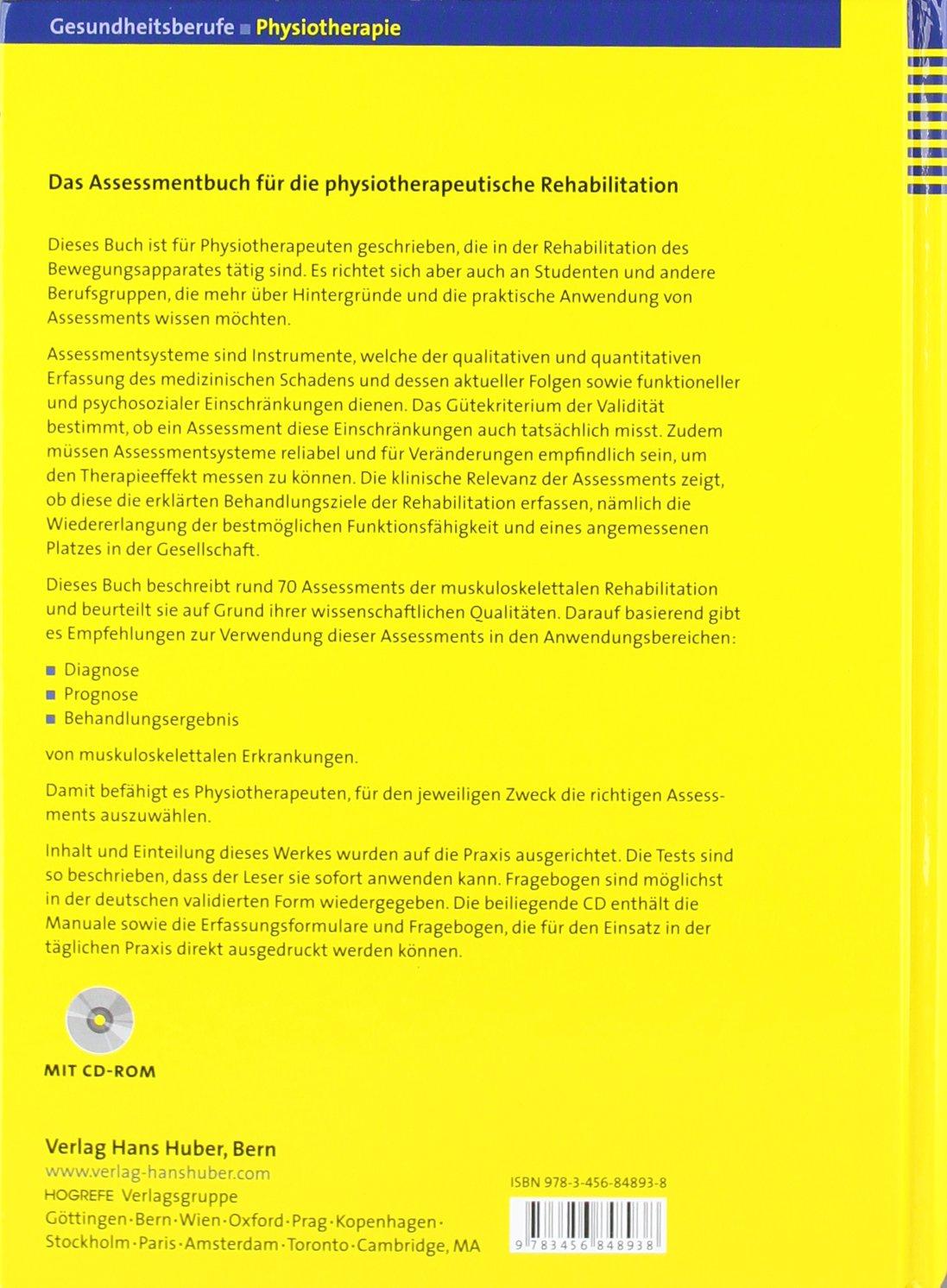 Assessments in der Rehabilitation: Band 2: Bewegungsapparat ...