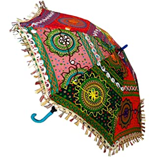 ae39c3c4d717d Designer Cotton Small Travel Sun Umbrella: Amazon.in: Bags, Wallets ...