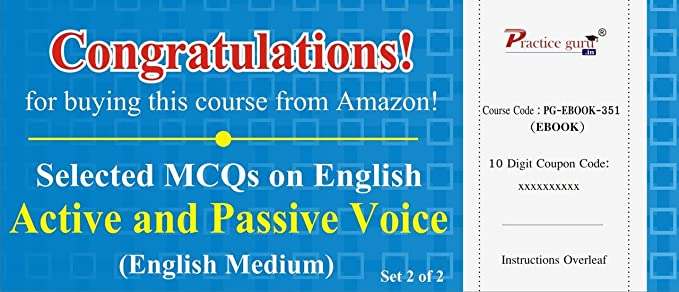 Practice Guru Selected MCQs on English - Active and Passive