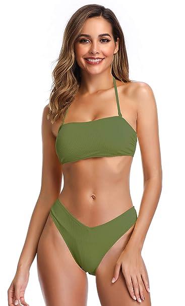 Amazon.com: SHEKINI Traje de baño de dos piezas para mujer ...