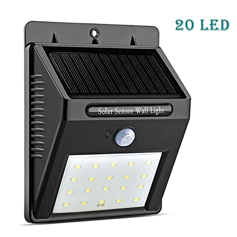 Amazon solar lights outdoor 20 led with motion sensor wall solar lights outdoor 20 led with motion sensor wall lights deck lights super bright waterproof workwithnaturefo