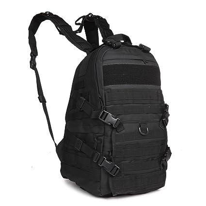30L – 40L militar Rifle patrulla mochila negro 600d pvc | Mochilas Deporte Al Aire Libre