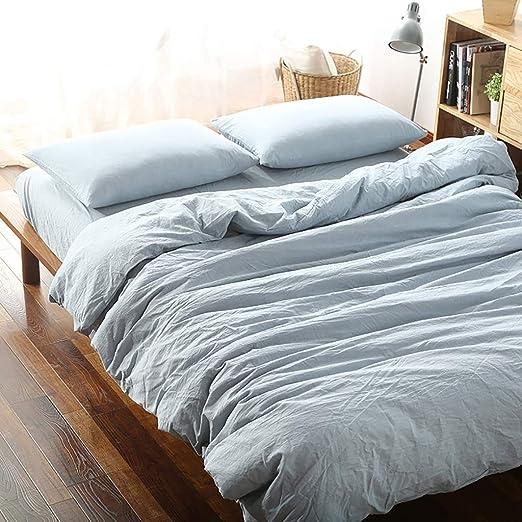 Juego de sábanas 100% algodón de 4 capas de cama de algodón Juego ...