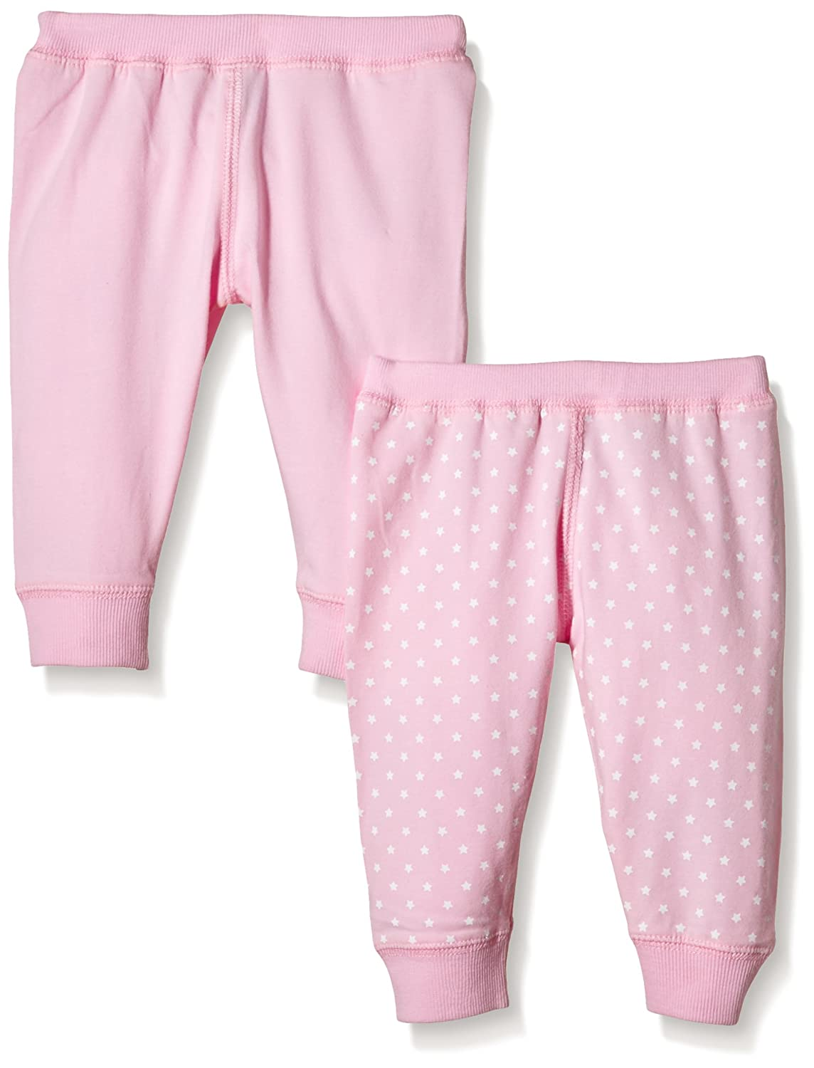 Care Baby Girls' Stars/Uni Trousers, Organic Cotton (Pack of 2) 550025
