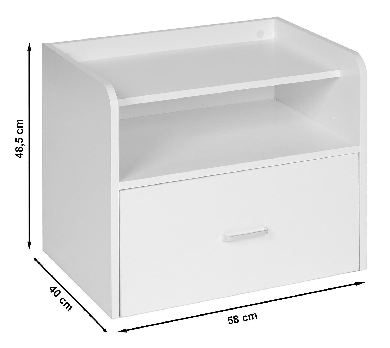 ts-ideen Mini-Comodino Scarpiera Bianco 58 x 40 cm Casa e cucina ...
