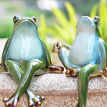 Lazy Puppy Garden Sculptures et Statues en céramique Couple ...