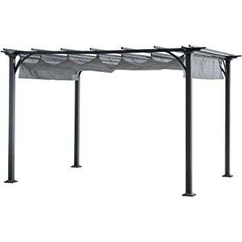 Amazon.com: Yardistry Arched Roof Pergola Gazebos with ...