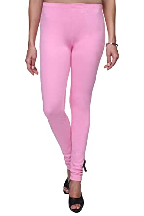 bee957f2020e34 Trasa Cotton Churidar Solid Regular and Plus 21 Colours Leggings for ...