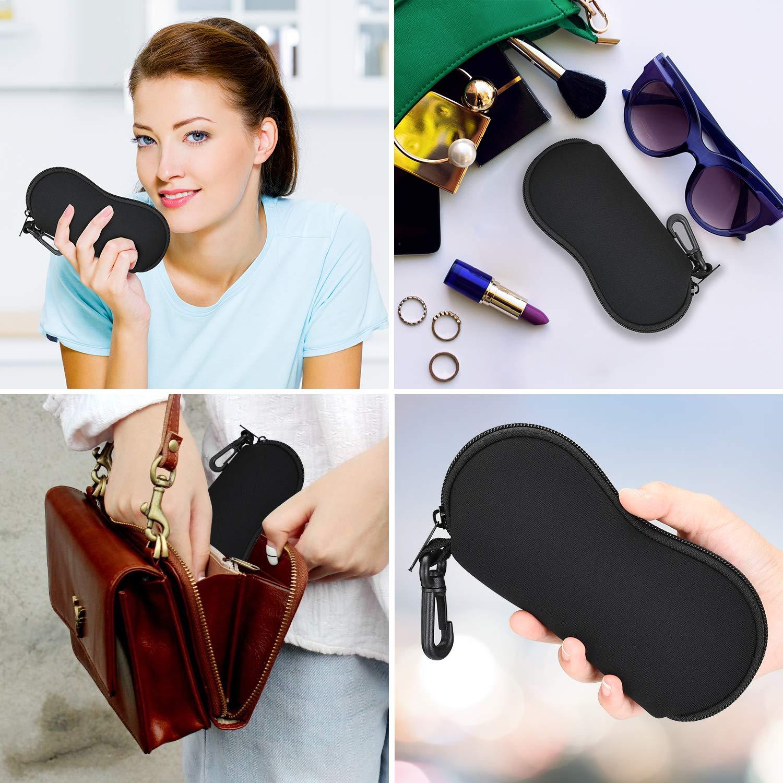 in neoprene con cerniera e clip per cintura Custodia morbida per occhiali da sole ZZ Sanity ultra leggera