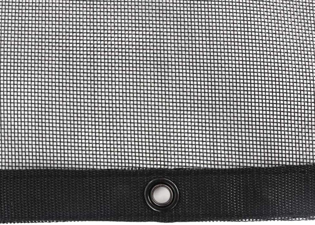 Reinforced Double Needle Stitch Webbing Ripping Tearing Stop leaveshade Truck Mesh Tarp 7X12-Tentproinc Heavy Duty Cover No Rust Thicker Copper Eyelets with Zip Handle Bag-3 Years Lasting