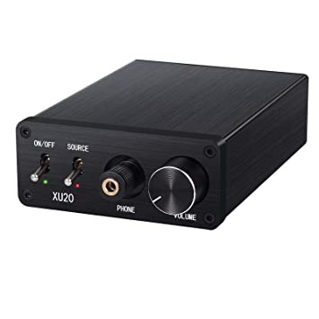 Proster 192kHz DAC Converter with Headphone Amplifier LPCM 2 0 Digital to  Analog Audio Converter Coaxial SPDIF Toslink to Analog Stereo L/R RCA  6 35mm