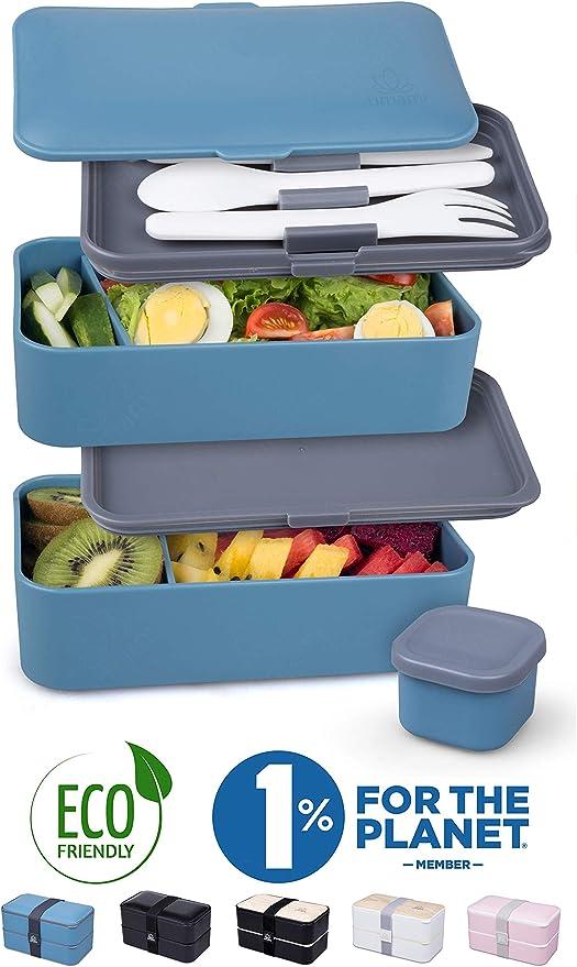UMAMI® ⭐ Lunch Box Premium - 1 Recipiente 3 Cubiertos - Tupper ...