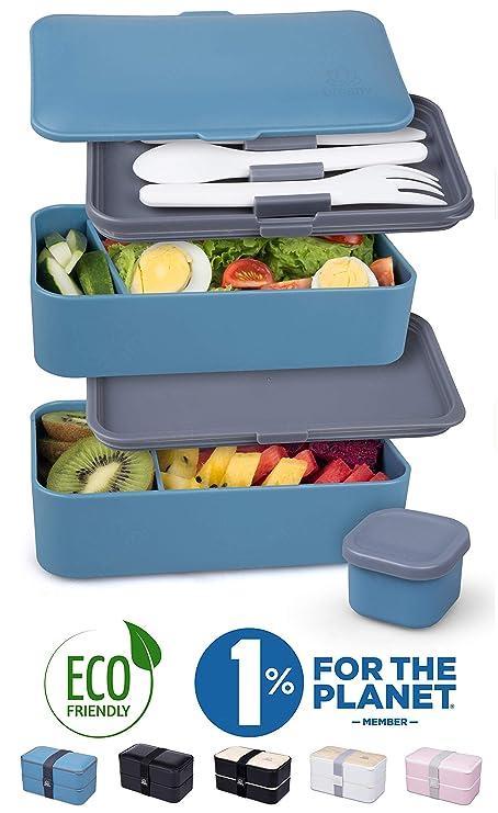Umami® ⭐ Lunch Box | Bento Box con 2 Compartimientos Herméticos Y ...