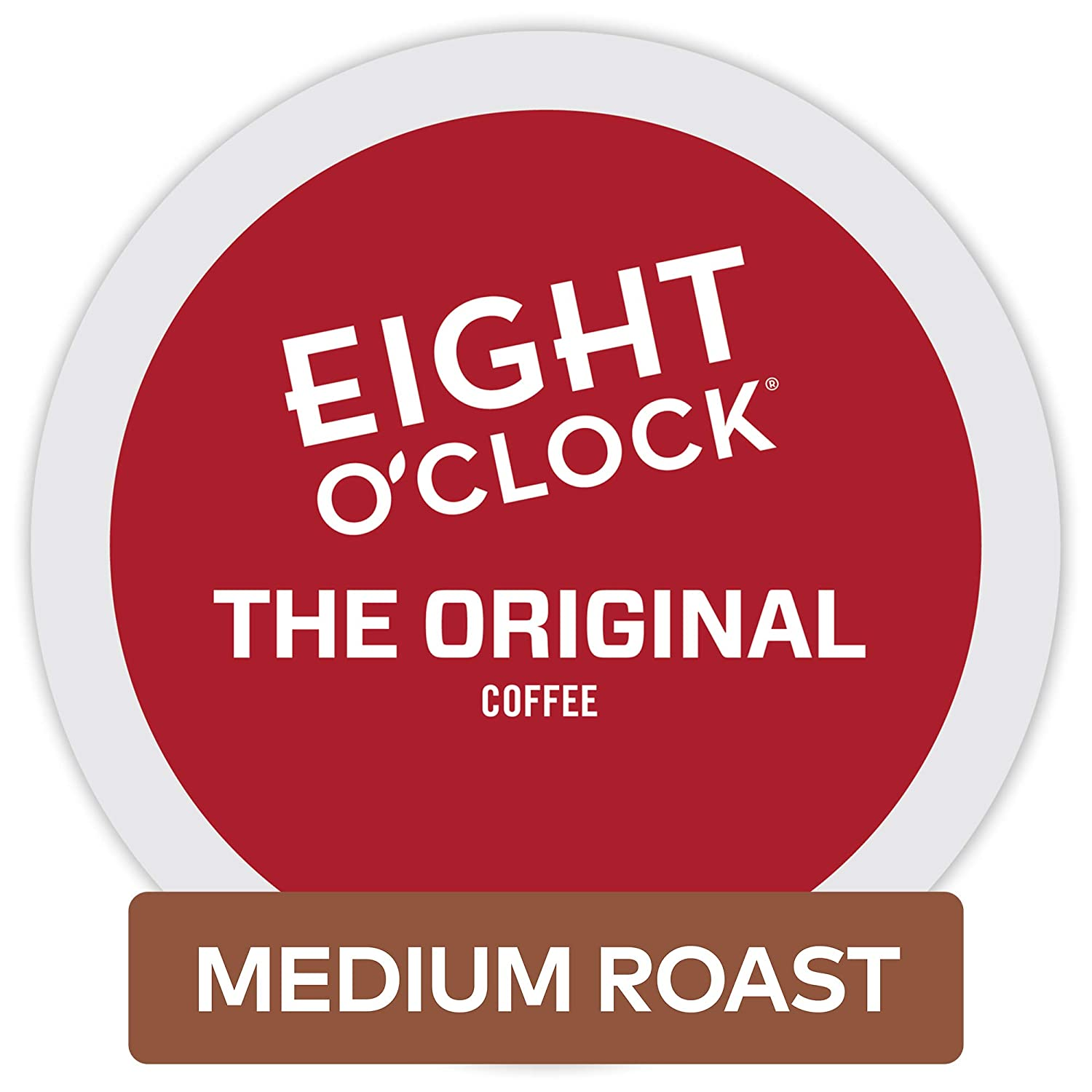 Eight O'Clock Coffee The Original, Single Serve Coffee K-Cup Pod, Medium Roast, 12 count, Pack of 6