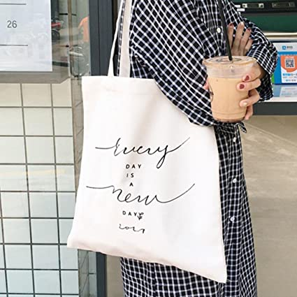 f303f7f2b Sinwo Women Shopping Handle Messenger Bags Canvas Handbag Bag Shoulder Bag  Tote (A)