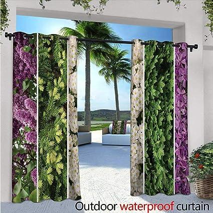 Cortinas Exteriores y Exteriores con diseño de Flores secas y Lilas, diseño de Flores de Tulipanes y Flores de jardín: Amazon.es: Jardín