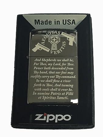 Amazon.com: Boondock Saints Prayer Zippo Lighter Mirror-polished ...