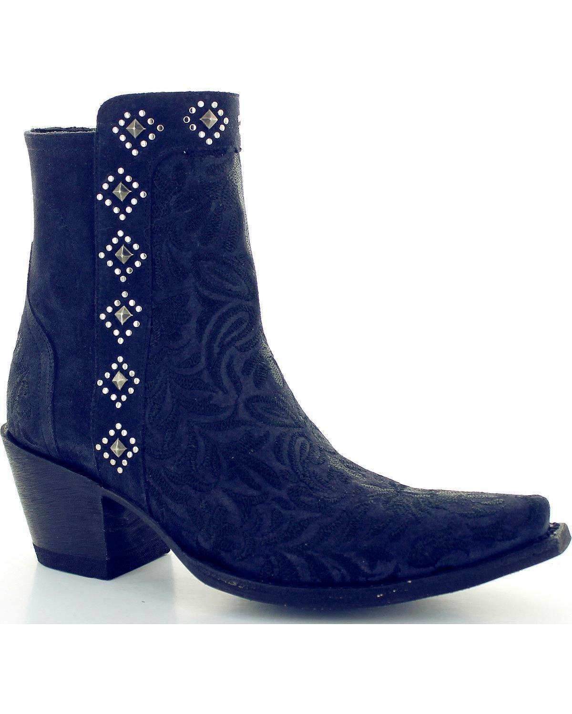 Old Gringo Women's Wink Dark Blue Booties Snip Toe - Bl2985-3 B078SZCGD4 7.5 B(M) US|Blue