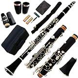 Funion B Flat Clarinet Set 17 Keys Clarinet Nickel Plated Keys Bb Clarinet With 2 Barrels Case Polishing Cloth Grease…