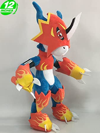 Anime Digimon Adventure Flamedramon Plush Doll