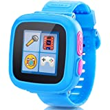 GBD Game Smart Watch for Kids Children Boys Girls with Camera Touch Screen Pedometer Timer Alarm Clock Toy Smartwatch Wristwatch Wristband Health Monitor (Blue)