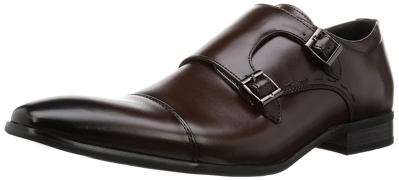 MM/ONE Mens Double Monkstrap shoes Oxford KingSize Big size Memory Foam Insole Shoes Black Dark Brown