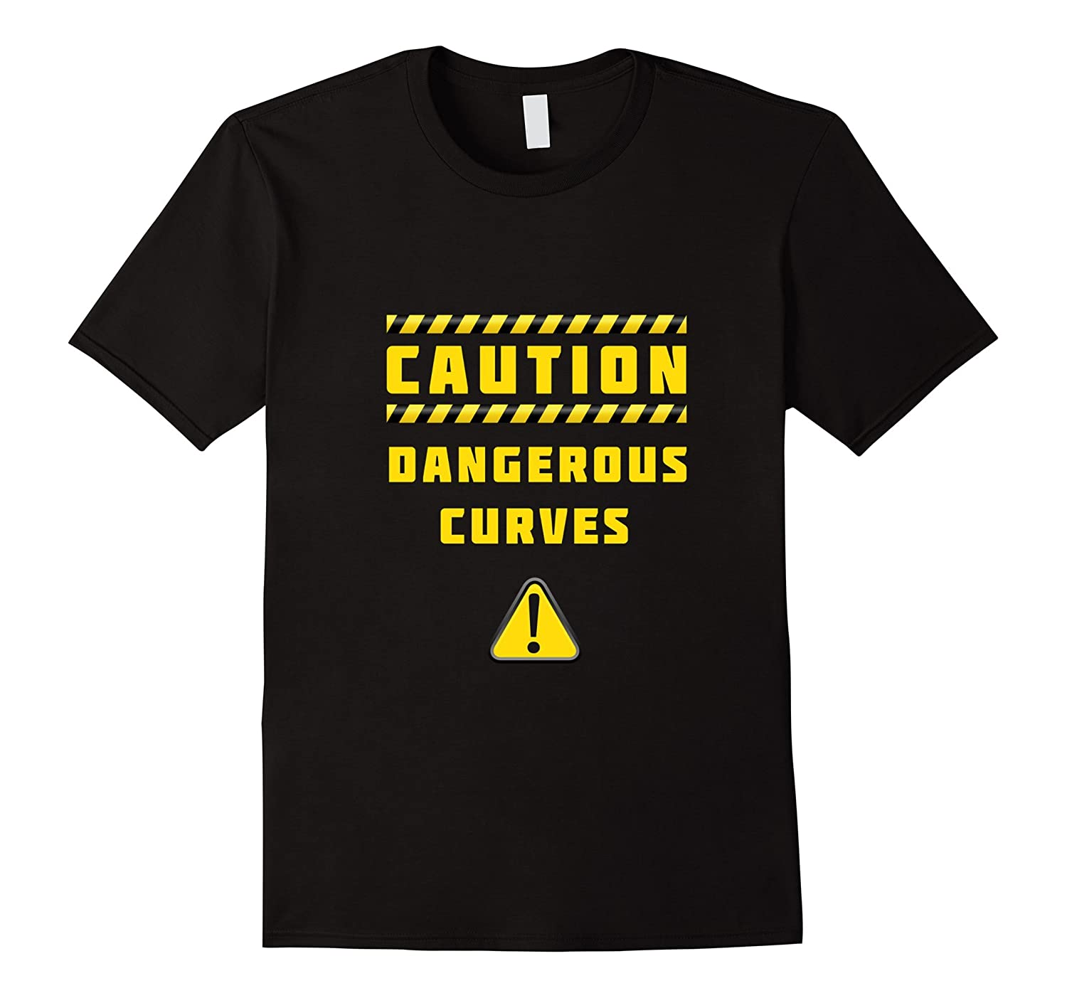 caution dangerous curves humor ironic T shirt big size model-BN
