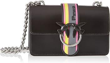 ea800340c3a Pinko Mini Love Sport Tracolla Pelle Abrasivata, Women's Shoulder Bag,  Black (Nero Limousine
