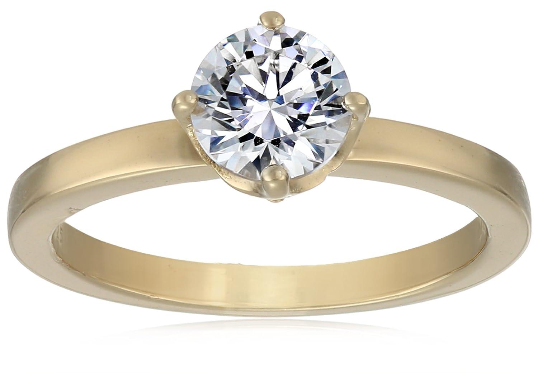 39c5fbea3 Amazon.com: Myia Passiello Essentials Swarovski Zirconia Round Solitaire  Ring: Jewelry