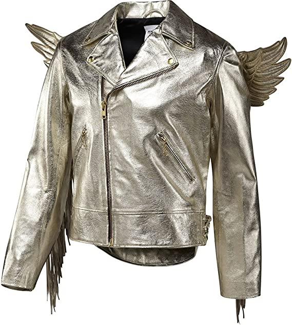 Adidas Men's Jeremy Scott JS Gold Wings Leather Jacket