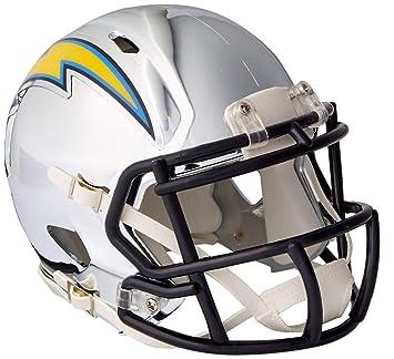 Riddell - Casco de Cromo alterno NFL Speed Autentico de tamaño Completo Los Angeles Chargers