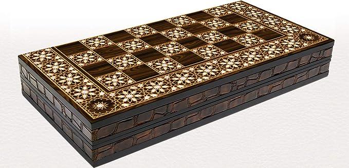 Orientalische BACKGAMMON TAVLA XXL Intarsien Look ORIENT