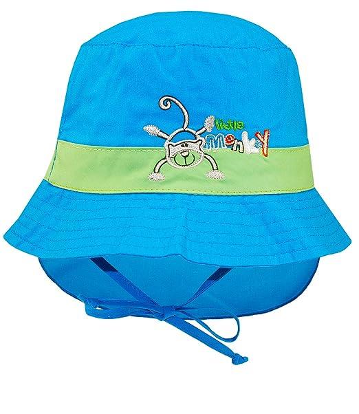 1d2e274d6 EveryHead Fiebig Sombrero Del Bebé Gorro De Protección Cuello Cabrito  Casquillo La Verano Gorra Paño Gorros