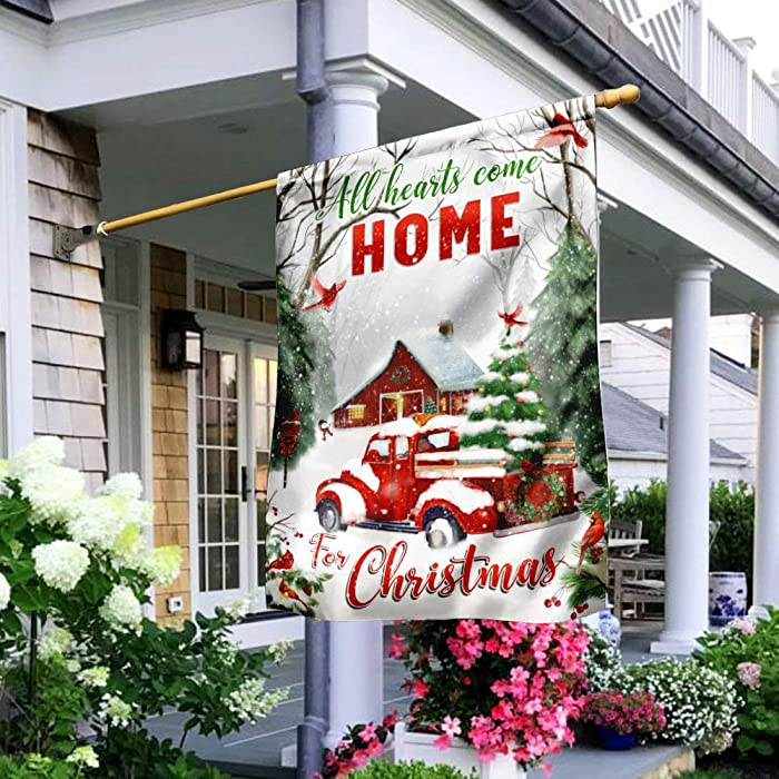 Top 10 All Hearts Come Home For Christmas Flag
