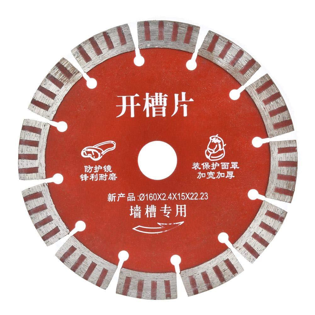 ladrillo cer/ámica Hoja de sierra circular de 5 piezas granito disco de corte de diamante de 160 mm Rueda de corte de diamante para cortar hormig/ón piedra de cuarzo piedra artificial