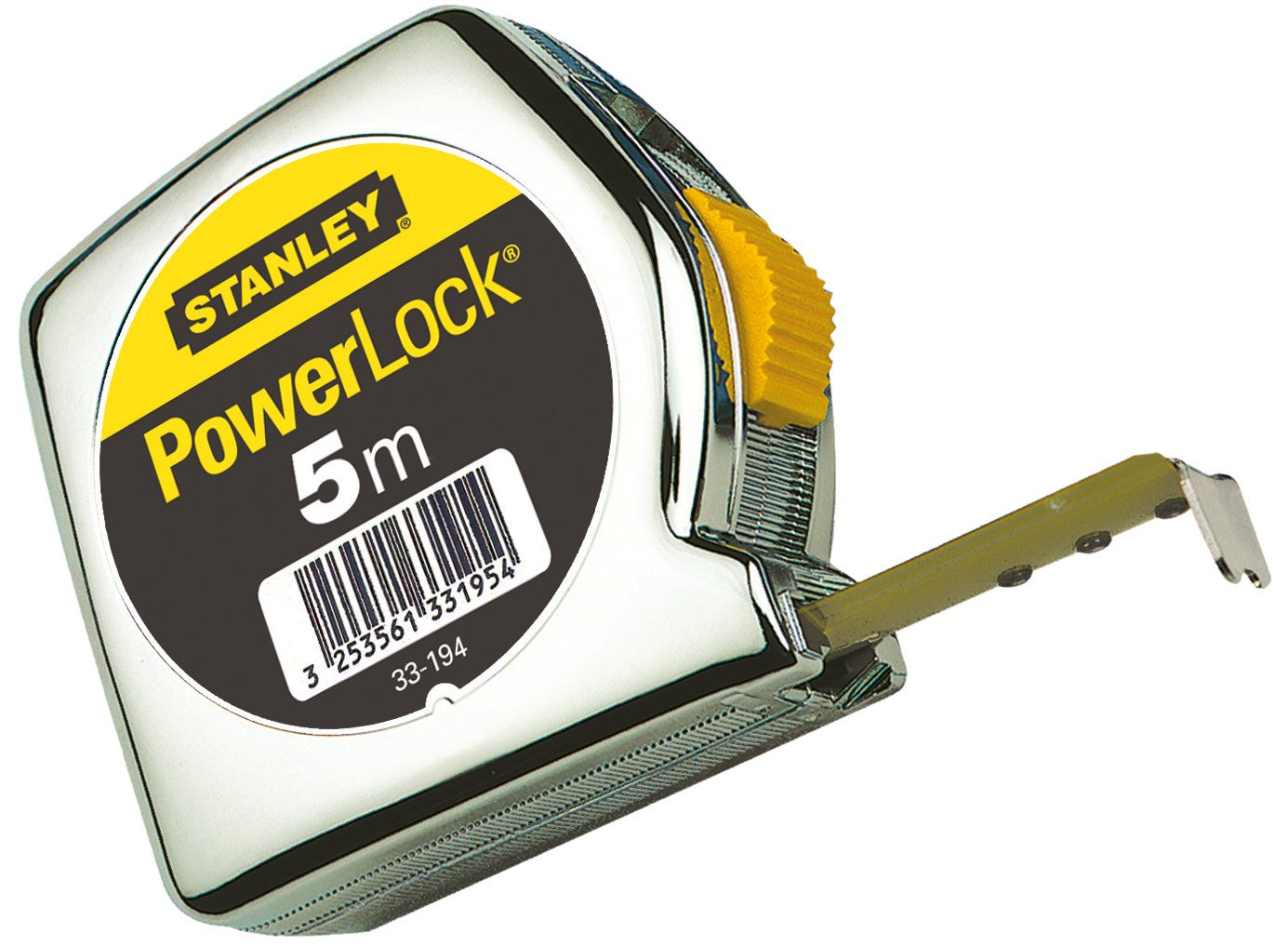Stanley 1-33-195 Mesure 5 m x 25 mm en ABS Powerlock Classic