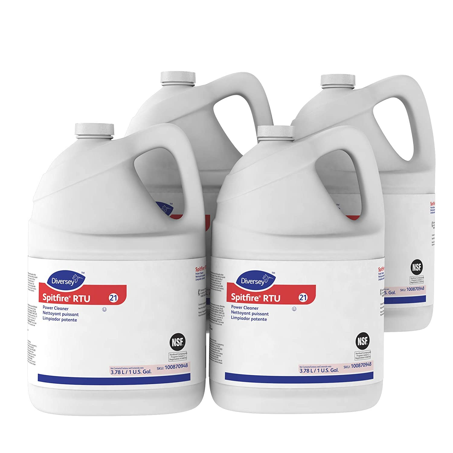 Diversey Spitfire Professional All Purpose Power Cleaner and Degreaser, 1 Gallon (2 Pack) Sealed Air CBD540045