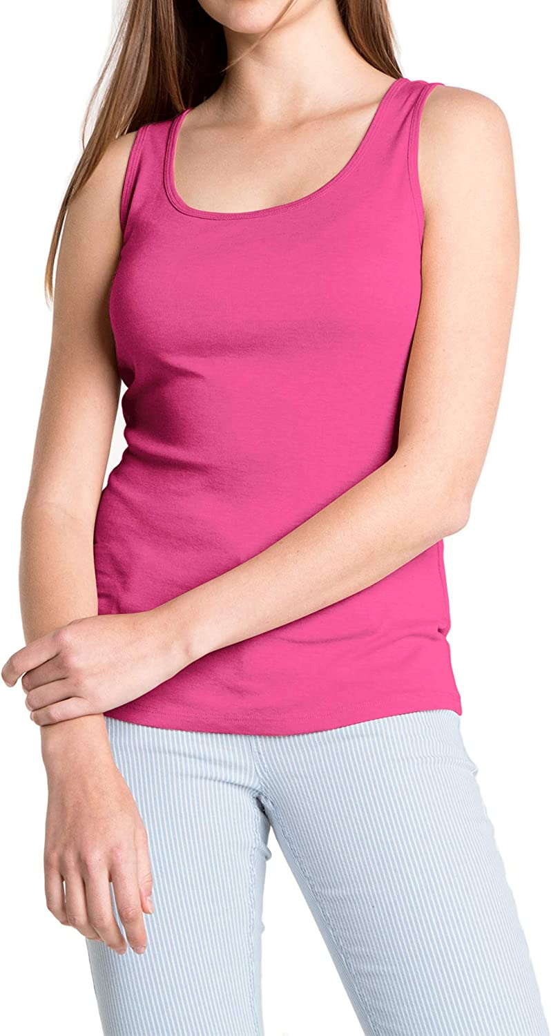 Womens Supersoft Camisole Stretch Casual Tank Tops Seamless Sleeveless Comfy Great for Undergarment Maternity Top