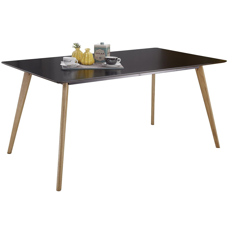 KS-Furniture Elvis Mesa de Comedor 120 cm, Tablero DM y Aluminio dise/ño Retro