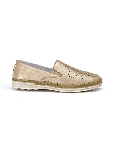 Avena Damen Klima-Espadrilles Superweich, superflexible Sohle - Blau Gr. 41
