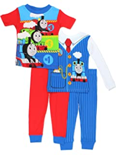 Thomas & Friends Boys 4 piece Costume Pajamas Set (Toddler)