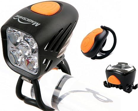 Juego de luces delantera y trasera Magicshine MJ-906 de 5000 lúmenes para bicicleta, con control remoto.: Amazon.es: Deportes y aire libre