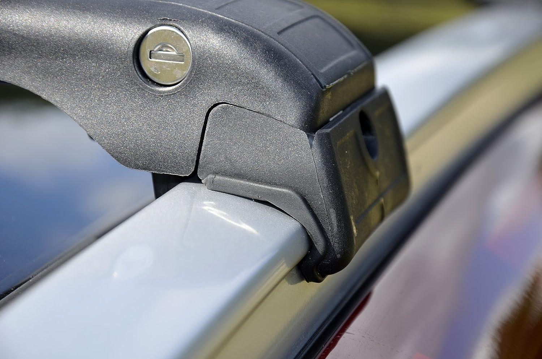 Barres de toit verrouillables en aluminium avec antivol pour Nissan