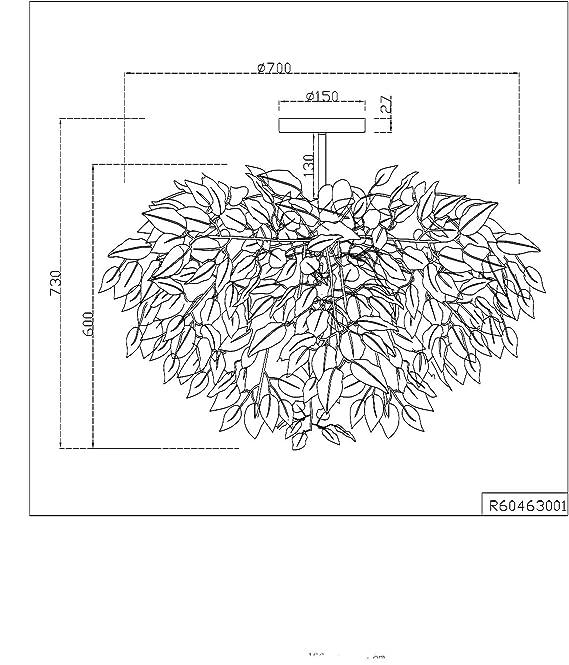 1x E27 Metall Nickel matt Reality Leuchten Deckenleuchte Leavy R60461001 Schirm Kunststoff wei/ß