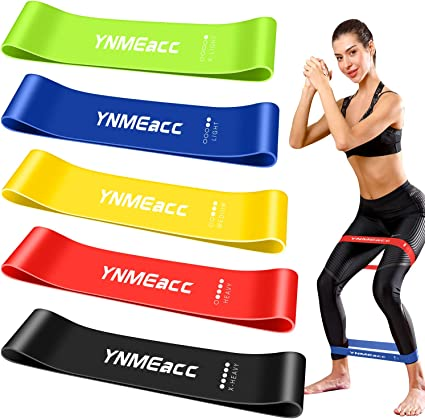 Lot 5 Bande Elastique Musculation Fitness Résistance Latex Naturel Sport Neuf