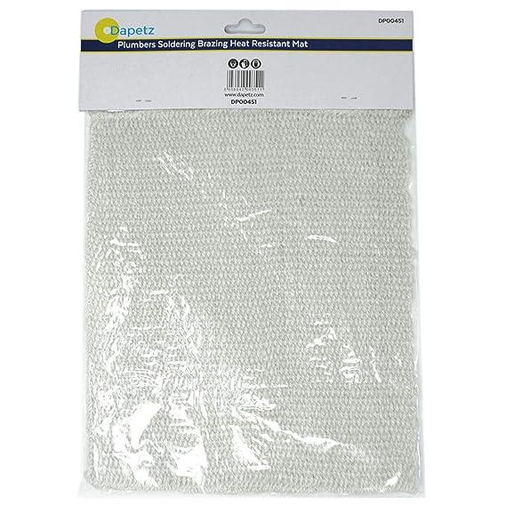 dapetz FONTANERO soldadura soldadura Resistente Al Calor Tapete 300mm x 250mm: Amazon.es: Bricolaje y herramientas