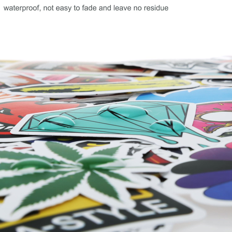200pcs Autocollant PAMIYO Sticker voiture vinyle Stickers Retro Stickers